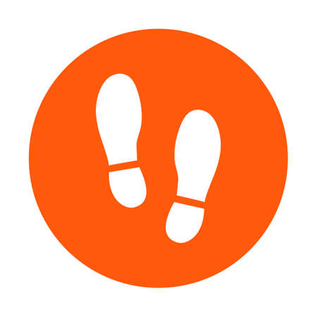 Ilustración de Black Imprint soles shoes icon. - Imagen libre de derechos