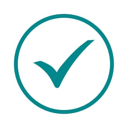 Illustration pour Check mark icon. Flat design style  vector. - image libre de droit