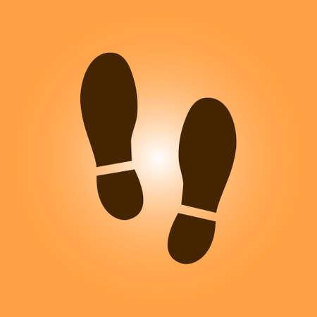 Ilustración de Shoe print symbol. - Imagen libre de derechos