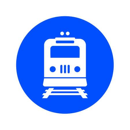 Illustration pour Train icon. Metro symbol. Railway station sign. - image libre de droit