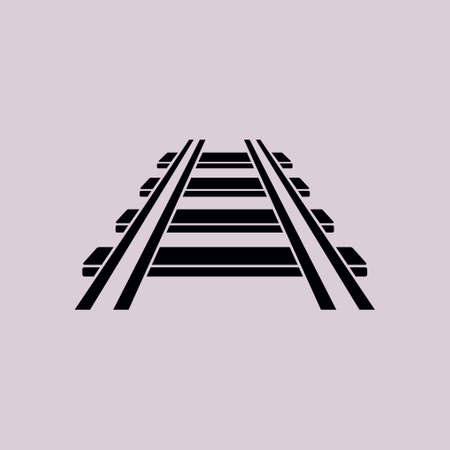 Ilustración de Railroad icon. Train sign. Track road symbol. - Imagen libre de derechos
