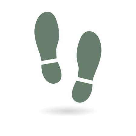 Ilustración de Shoe print symbol. Vector illustration. - Imagen libre de derechos