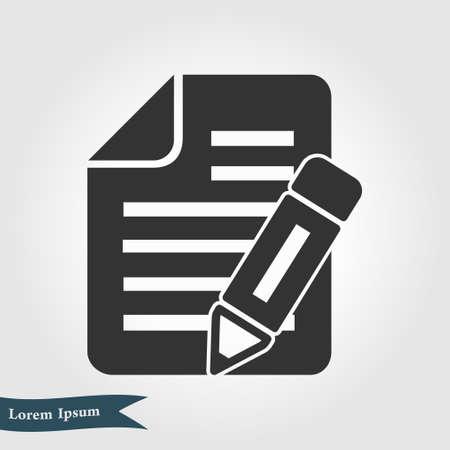 Illustration pour Make a request. Fill documents. Write the data into the document. - image libre de droit