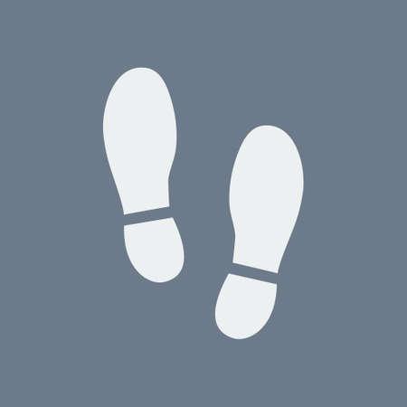 Ilustración de Black imprint soles shoes icon flat design style. - Imagen libre de derechos