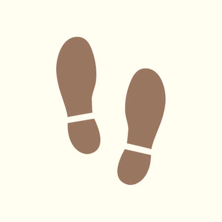 Ilustración de Black Imprint soles shoes icon. Flat design style. Vector illustration. - Imagen libre de derechos