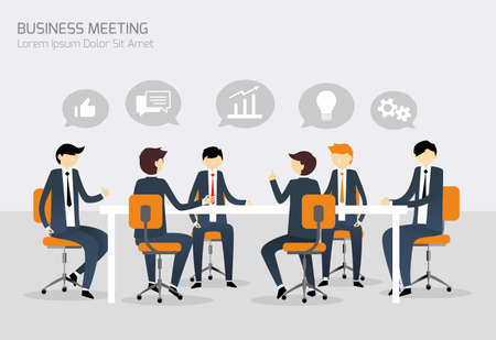 Illustration pour Business Meeting - image libre de droit