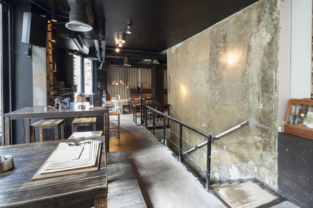 Foto de stairs in restaurant interior - Imagen libre de derechos