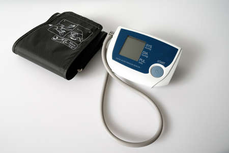 Foto de An Implantable Cardioverter Defibrillator or ICD pacemaker with leads and modem for telemonitoring at home. The device sends data to the hospital on a regular basis. - Imagen libre de derechos