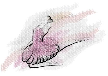 Illustration for ballet. vector illustration of classical ballet, figure ballet dancer - Royalty Free Image