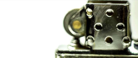 Photo pour The close-up on the part of a lighter on a white background - image libre de droit