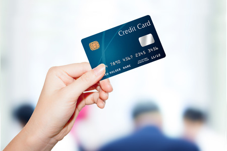 Photo for female  hand holding credit card - Royalty Free Image