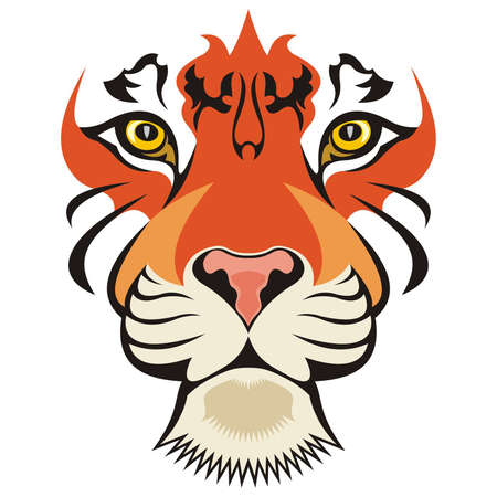 Illustration for Tiger Vector - Royalty Free Image