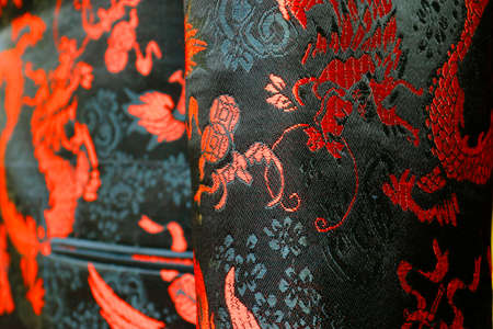 Photo for Detail silk chinese costume - Royalty Free Image