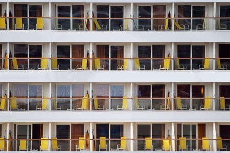 Foto de Cruise ship decks in detail, view at the balcony - Imagen libre de derechos