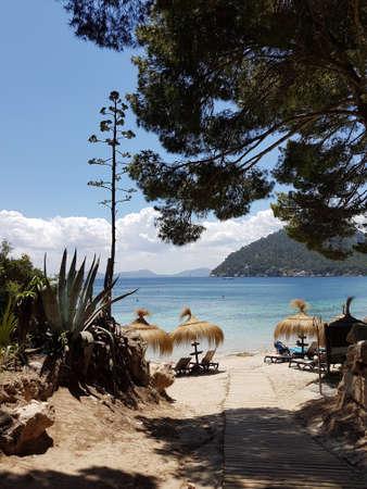 Foto de Wonderful landscape at the playa de formentor, Mallorca, Spain - a summer dream, fantastic scenery - Imagen libre de derechos