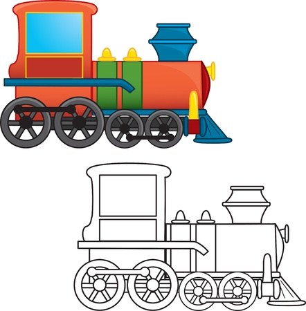 Train toy  Coloring book