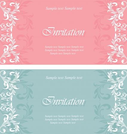Photo pour Set of invitation vintage cards - image libre de droit