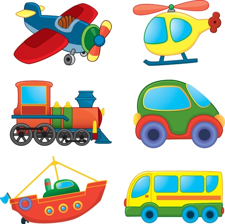 Photo pour Cartoon transport set - image libre de droit