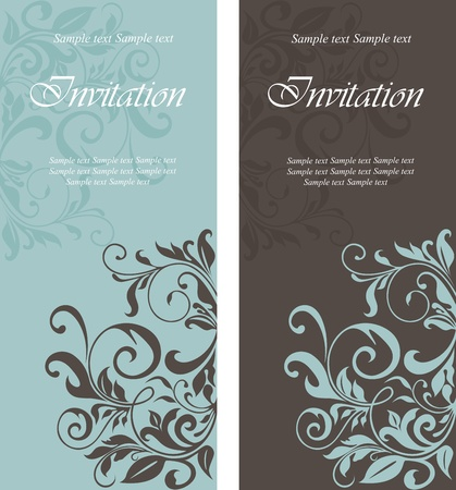Foto de Beautiful floral invitation cards - Imagen libre de derechos