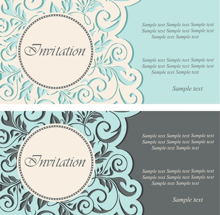 Foto de Beautiful vintage invitations  illustration - Imagen libre de derechos