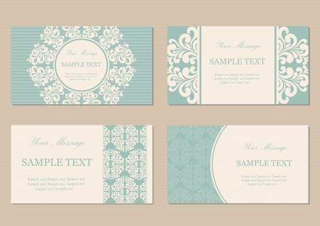 Illustration pour Floral vintage business or invitation cards - image libre de droit
