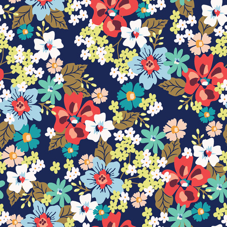 Photo for Seamless flower pattern. Vector illustration - Royalty Free Image