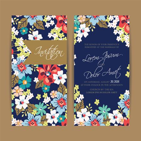 Ilustración de Wedding invitation card or announcement. - Imagen libre de derechos
