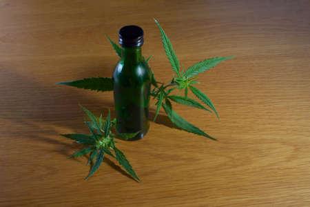 Photo pour Hemp seed oil CBD - image libre de droit