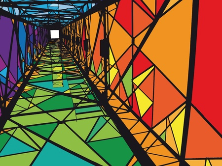 Photo pour Abstract Electrical tower illustration - image libre de droit