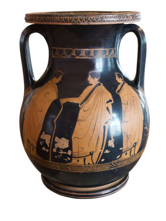 Photo for Ancient greek vase exposed in a museum - Royalty Free Image