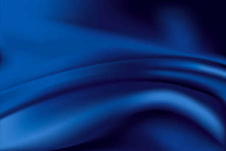 Ilustración de Vector of Blue silk fabric background - Imagen libre de derechos
