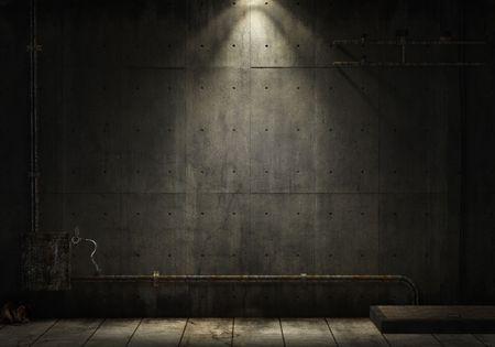 grunge background of an interior industrial scene