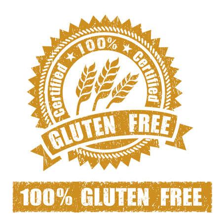 Foto per Gluten Free Rubber Stamp - Immagine Royalty Free