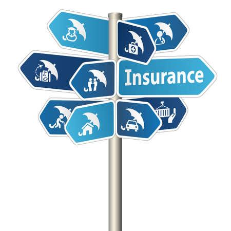 Foto de Insurance Sign - Imagen libre de derechos