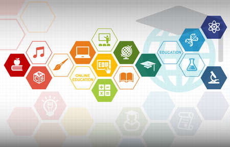 Photo for Online Education Background - Royalty Free Image