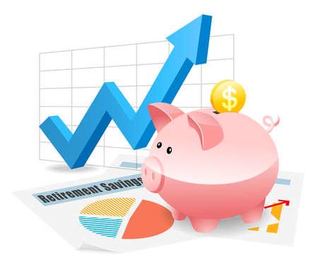 Foto de Piggybank Savings Investment Planning for Future - Imagen libre de derechos