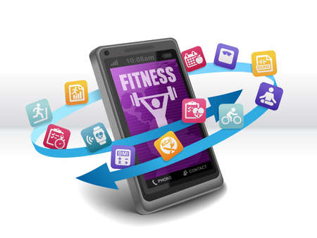 Foto per Health and Fitness Apps on Smartphone - Immagine Royalty Free