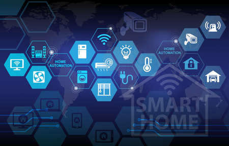 Foto de Smart Home Automation Remote Control Background - Imagen libre de derechos