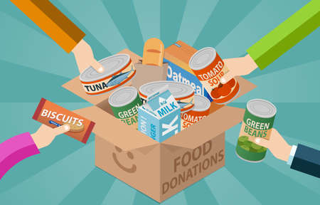 Photo pour Food drive donation box - image libre de droit