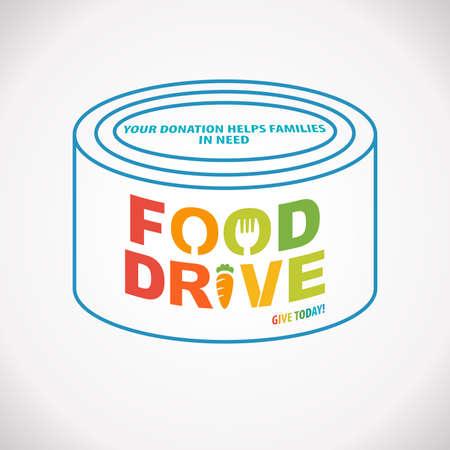 Photo pour Food drive donation give today campaign - image libre de droit