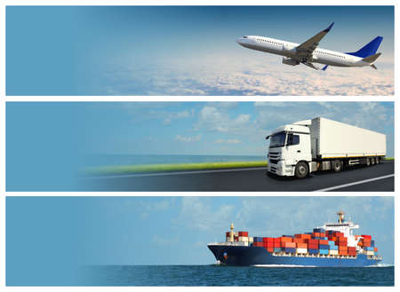 Photo for Logistics Banner - Royalty Free Image