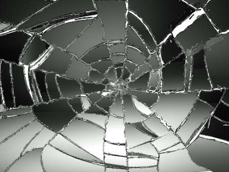 Photo for Glass Broken or Shattered on white. Large resolution - Royalty Free Image