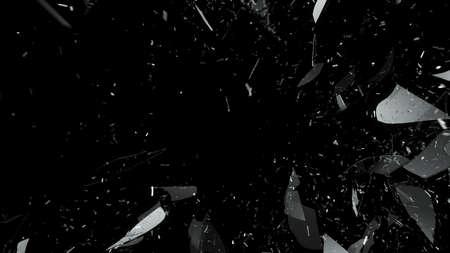 Foto de Breaking and Shattered glass on black. Large resolution - Imagen libre de derechos