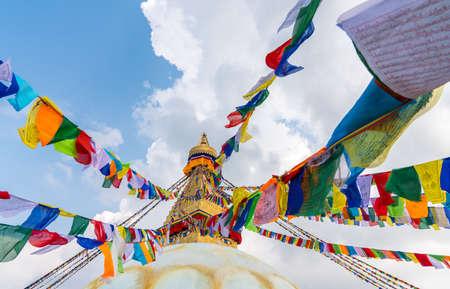 Foto de Boudhanath Stupa in Kathmandu, Nepal. Buddhist stupa of Boudha Stupa is one of the largest stupas in the world - Imagen libre de derechos