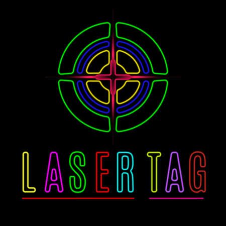 Illustration pour Vector elements of the logo laser tag - image libre de droit