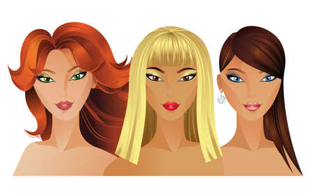 Illustration for Three Beautiful fashion girls  - Royalty Free Image