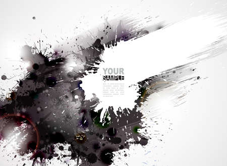 Illustration pour Abstract grunge artistic Background forming by blots  - image libre de droit