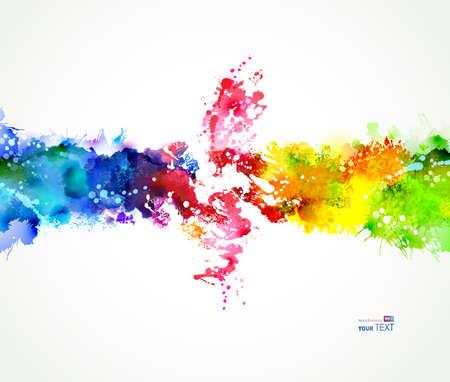 Ilustración de Bright watercolor stains. Color composition. - Imagen libre de derechos