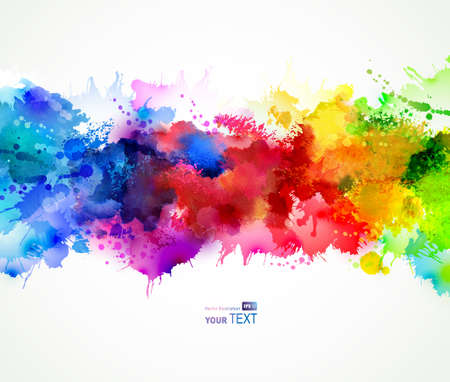 Ilustración de bright background with watercolor stains - Imagen libre de derechos