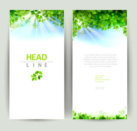 Illustration pour set of two natures banners - image libre de droit